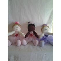 Bonecas De Pano Bailarinas Artesanal 56 Cm- Trio