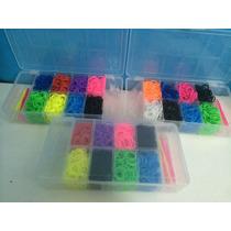 Rainbow Loom- Kit Refil-1.200 Elasticos + Caixa Organizadora
