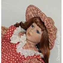 Boneca De Porcelana Biscui Louça Padrão Alemã Nova Ed Antiga