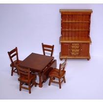 Miniatura Móveis Cozinha E Comidinhas - Casa De Boneca
