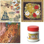 Kit C/ 15 Guardanapos Decoupage Variados + Cola 120gr