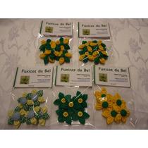 Kit Com 5 Flores De Fuxico