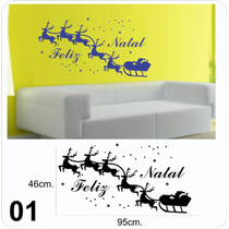 Adesivo Decorativo De Parede, Lindos Kits Enfeites De Natal
