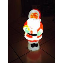 Papai Noel Em Plastico-acende A Luz Decoração Jardim