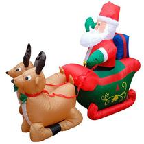 Gigante Rena Inflável Papai Noel Natal Exterior Prédio 220