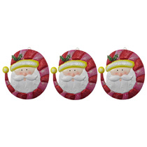 Papai Noel Natal Natalino Kit Com 3 Uni Decoracao Porpurina