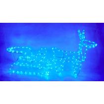 Treno De Natal Com Rena Leds Azul 127v