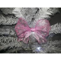 Laço De Natal Rosa Simples (13cm - 10unidades)