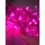 Pisca Rosa Led 100lamp 8 Funções Fio Rosa