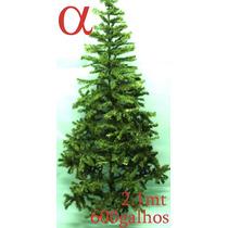 Árvore De Natal Verde Canadense Pinheiro 2,10m 600g.+brinde