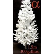 Árvore De Natal Branca Canadense 1,50m 300g.+brinde.lj Alfa.