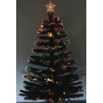 Arvore De Natal Fibra Otica Com Estrela 1,50cm