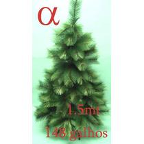 Árvore Natal Verde Pinheiro Grossa 1,50mt 148galhos + Brinde