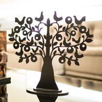 Árvore Decorativa Dois Pássaros Tamanho M Preto Fosco -