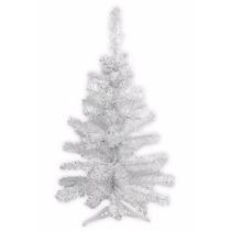 Árvore De Natal Pinheiro Tradicional Branco 60cm 50 Galhos