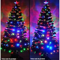Arvore De Natal Fibra Otica 2,10 Mt Com Led