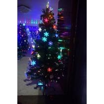 Arvore De Natal Fibra Otica E Estrelas Led Efeito Rgb 1,5m