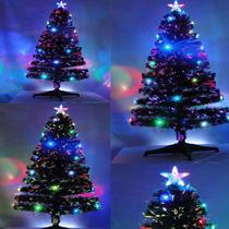 Arvore De Natal Fibra Otica 1,20mt Com Led