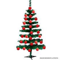 Árvore Natal Pinheiro Canadense 60cm C/ 50 Galhos + 12 Bolas