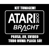 Kit Tunagem Para Atari 2600 E Clones! Pausa, Av E S-video