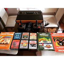 Atari 2600 Frente Madeira- Wood Importado - Lindo.