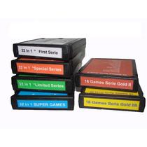 Lote 6 Fitas De Atari 2600 Com 160 Games