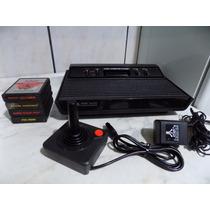 Atari 2600 + 4 Jogos - Video Game - Frete Gratis