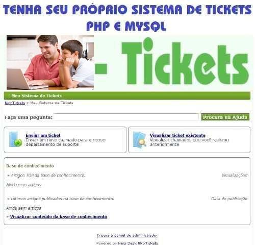 Atendimento Por Ticket. Php E Mysql. Sem Mensalidade