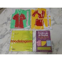 Kit 4 Livro Com Moldes Modelagem Confecção Roupas Industrial