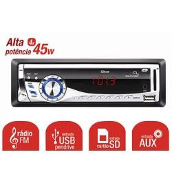 Auto Radio Automotivo Player Som Mp3 Usb Fm Multilaser P3167