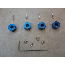 Sextavado Hex 1/10 12mm Alumínio Azul Traxxas Hpi Kyosho Hsp