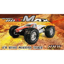 Monster Truck 1/8 Bd8max 4x4 Nanda Racing Motor 25 Radio2.4