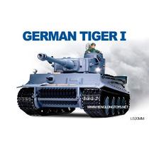 Tanque De Guerra German Tiger I R/c Completo 3818