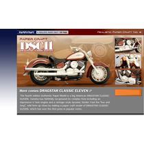 Maquete Yamaha Dragstar Dsc11 + Brinde Oficininha Yamaha