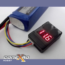 Buzzer Alarme De Bateria 2 Em 1 Lipo Life Li-on Cell Checker
