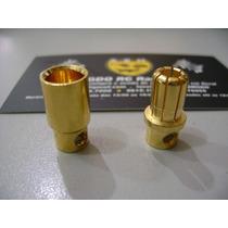 O Par (m/f)de Conector Bullet 6.5mm Para Esc Gdo