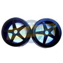 Par Rodas Star+pneus Slick Gt On Road 41mm Sext 17mm 1/8 Gt2