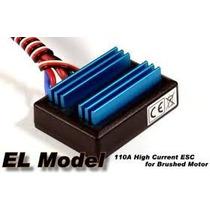 Esc Brushed 6 12v P/ Motores Escovados,110a C/ Reverso P/ Rc