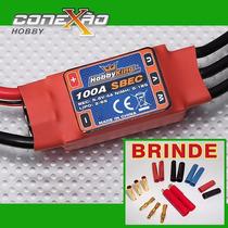 Esc Speed Control Hk 100a C/ Bec P/ Avião + Brinde Exclusivo