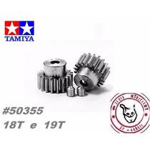 Tamiya #50355 Kit Pinhão 18t + 19t - Uso Exclusivo Rc Tamiya