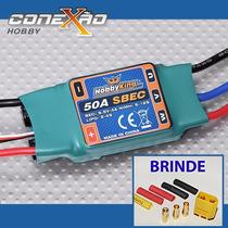 Esc Speed Control Hk 50-80a C/ Bec P/ Avião + Brinde