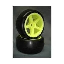 Sintec Jogo De Rodas Amarelas C/ Pneus 1/10 Buggy E Revinho