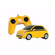 Carro Controle Remoto Fiat 500 Amarelo 1:24 Rastar 63001