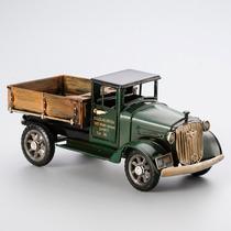 Enfeite Em Forma De Caminhão Verde De Ferro 20x9x9cm R 30027