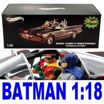 Batmovel Tv 1966 Hot Wheels Elite 1:18 Batman Djj39 Sp
