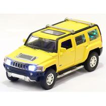 Miniatura Hummer H3 2007 Amarela Com Luz E Som