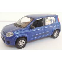 Fiat Novo Uno Azul 4p. Norev Na Caixa Lacrado. Esc. 1.43.