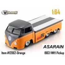 Vw - Kombi Truck Prata De Corrida - Jada - 1/64