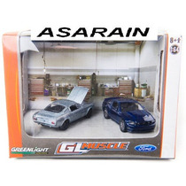 Diorama Gl Muscle Ford Mustang Greenlight 1/64
