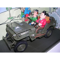 Mini Jeep Willys Militar O Gordo E O Magro 1:18 Gate Raro